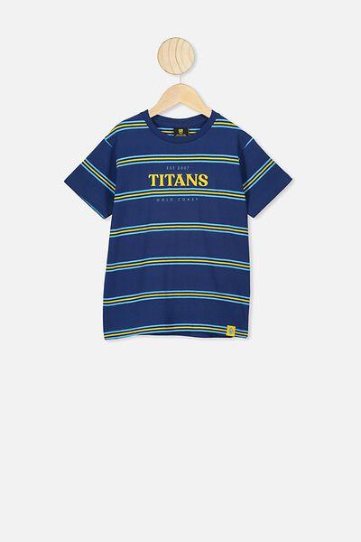 Nrl Kids Stripe Logo T-Shirt, TITANS
