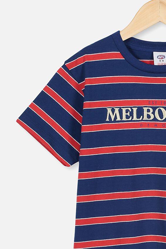 Afl Kids  Stripe Logo T-Shirt, MELBOURNE