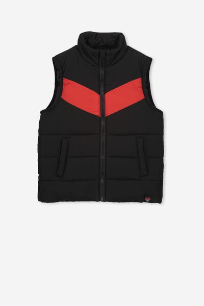Afl Kids Puffer Vest, ESSENDON