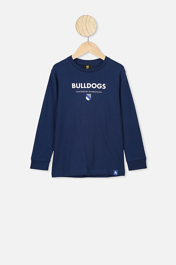 Nrl Kids Graphic Long Sleeve, BULLDOGS