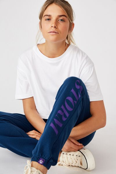 Nrl Womens Old School Track Pant, STORM