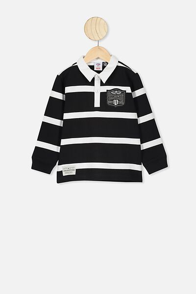 Afl Kids Old School Rugby Polo, COLLINGWOOD
