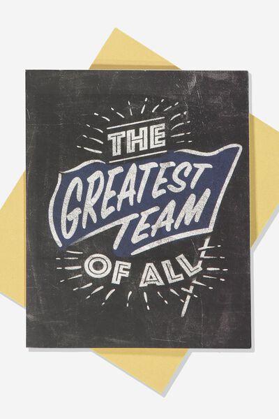 Afl Greeting Card - Chalk Design, GEELONG