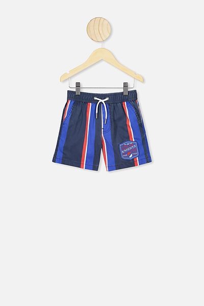 Nrl Boys Stripe Board Short, KNIGHTS