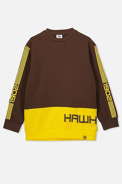 Afl Kids Terry Fleece Crew, HAWTHORN