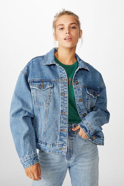 Nrl Womens Cropped Denim Jacket, RABBITOHS
