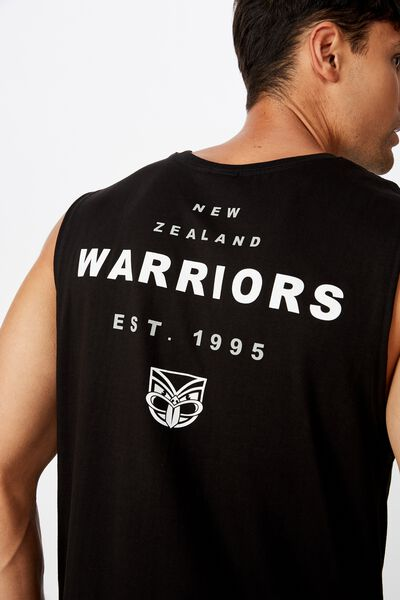 Nrl Mens Text Muscle Tank, WARRIORS