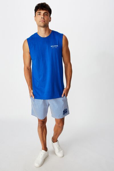 Nrl Mens Stripe Board Short, BULLDOGS