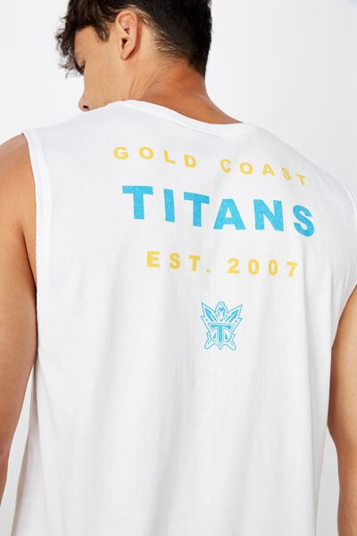 Nrl Mens Text Muscle Tank, TITANS