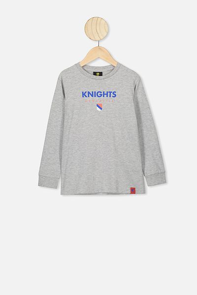 Nrl Kids Graphic Long Sleeve, KNIGHTS