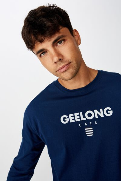 Afl Mens Graphic Long Sleeve, GEELONG