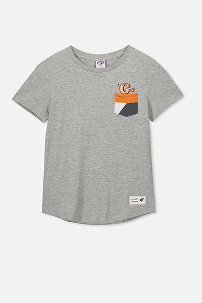 Afl Kids Pocket Print Tee, GWS