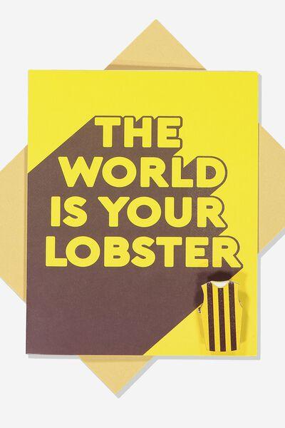 Afl Greeting Card - Lobster (Pin), HAWTHORN