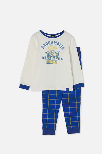 Nrl Kids Mascot Ls Pyjama Set, EELS