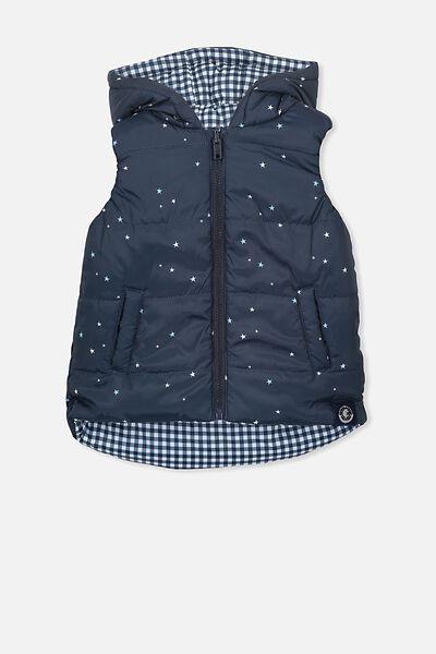 Afl Kids Reversible Puffer Vest, CARLTON