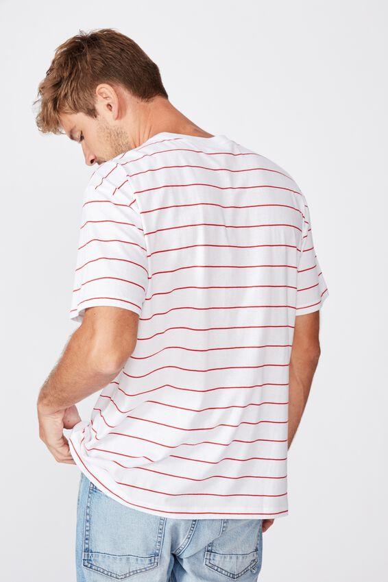 Afl Mens Stripe Logo T-Shirt, SYDNEY SWANS