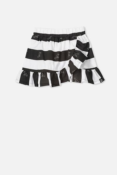 Afl Girls Ruffle Skirt, COLLINGWOOD