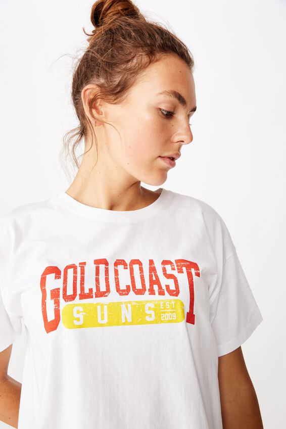 Afl Womens Cropped T-Shirt, GOLD COAST