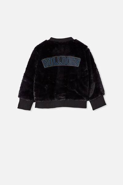 Nrl Kids Fur Bomber Jacket, BULLDOGS
