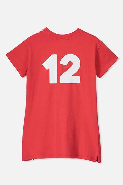 Personalised AFL Girls T-Shirt Dress, SYDNEY