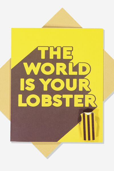 Afl Greeting Card - Lobster (Pin), HAWTHORN