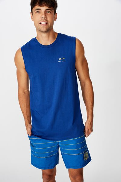 Nrl Mens Text Muscle Tank, EELS