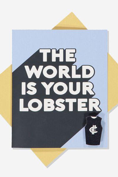 Afl Greeting Card - Lobster (Pin), CARLTON