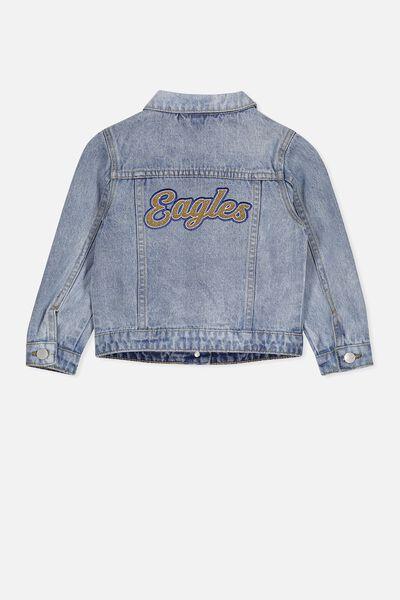 Afl Kids Denim Jacket, WEST COAST EAGLES
