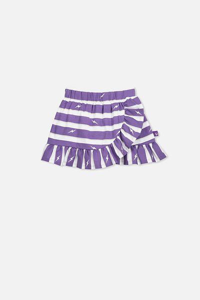 Nrl Girls Ruffle Skirt, STORM