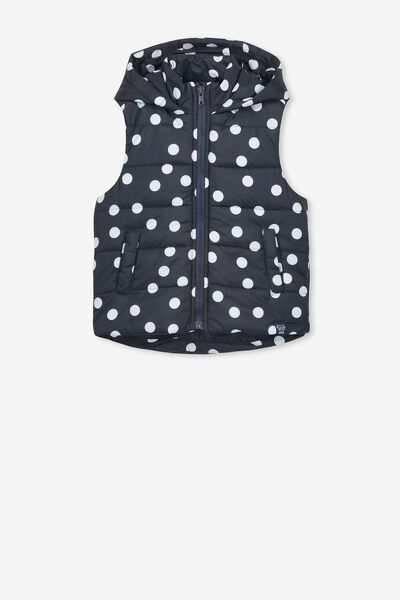 Afl Girls Puffer Vest, CARLTON