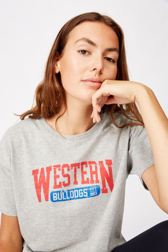 Afl Womens Cropped T-Shirt, WESTERN BULLDOGS