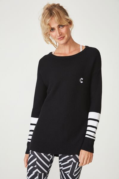 Afl Ladies Archie Knitted Pullover, COLLINGWOOD