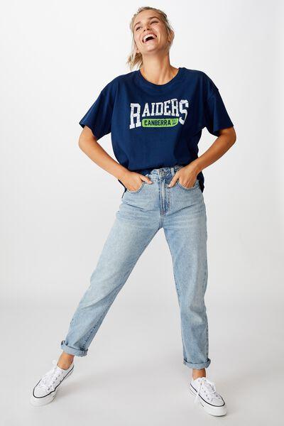 Nrl Womens Cropped T-Shirt, RAIDERS