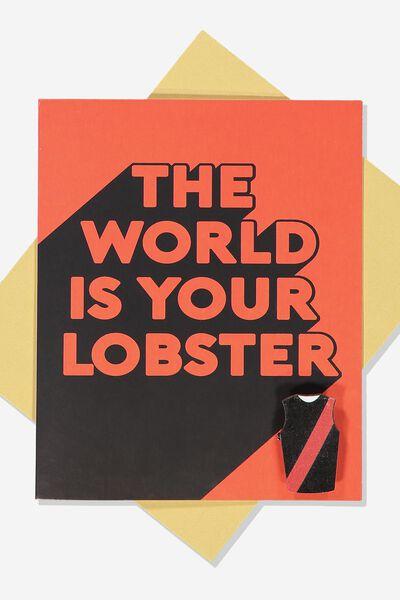 Afl Greeting Card - Lobster (Pin), ESSENDON