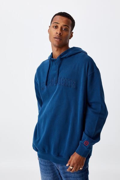 Afl Mens Embroidered Hoodie, MELBOURNE