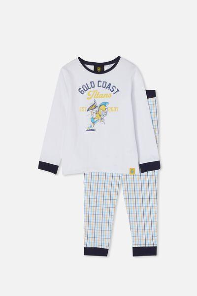 Nrl Kids Mascot Ls Pyjama Set, TITANS