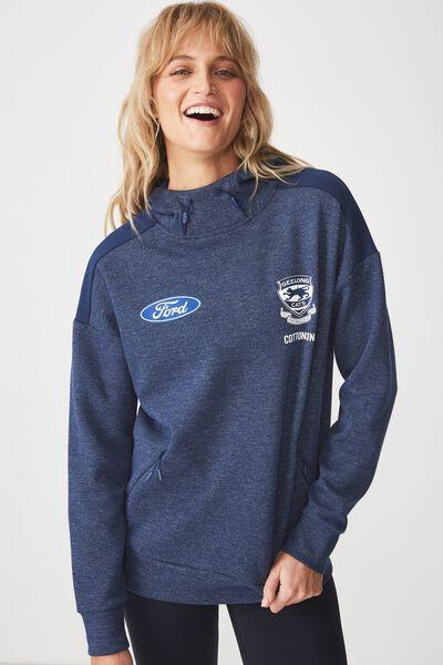 Gfc Tech Fleece Pullover - Womens, NAVY TEXTURE