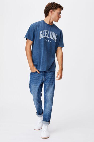 Afl Mens Collegiate T-Shirt, GEELONG