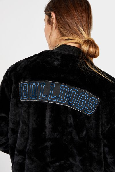 Nrl Womens Fur Bomber Jacket, BULLDOGS