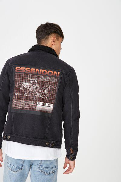 Afl Sherpa Denim Jacket, ESSENDON