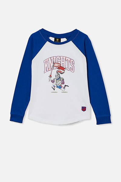 Nrl Kids Raglan Ls Top, KNIGHTS