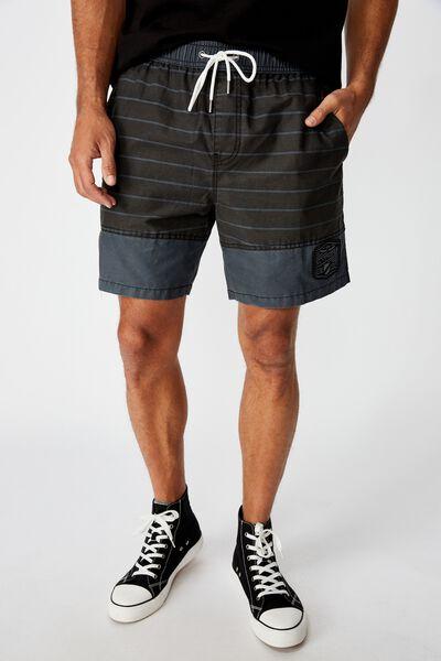 Nrl Mens Stripe Board Short, PANTHERS