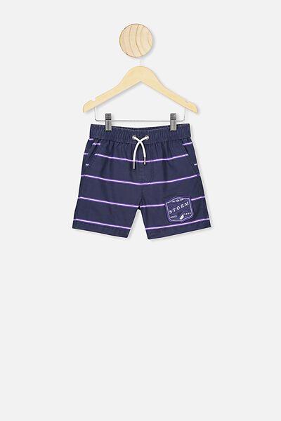 Nrl Boys Stripe Board Short, STORM