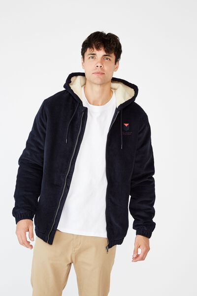 Afl Mens Corduroy Jacket, MELBOURNE