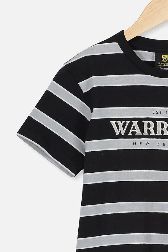 Nrl Kids Stripe Logo T-Shirt, WARRIORS