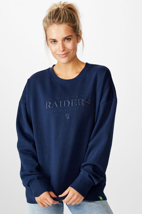 Nrl Womens Old School Jumper, RAIDERS