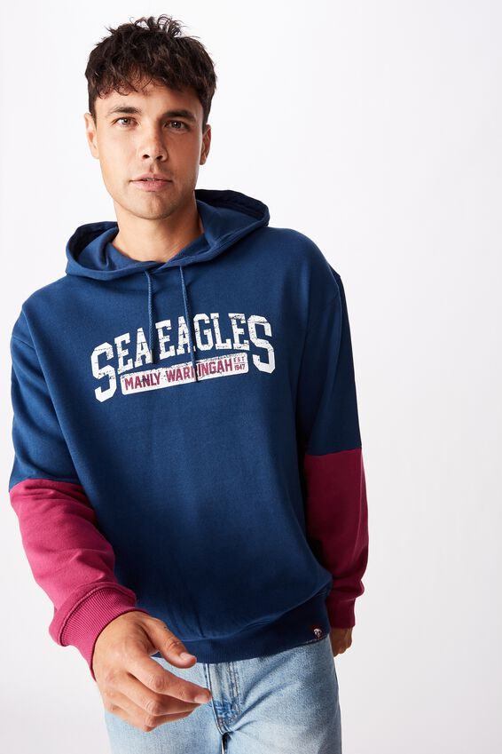 Nrl Mens Panel Hoodie, SEA EAGLES
