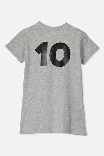 Personalised AFL Girls T-Shirt Dress, COLLINGWOOD