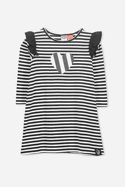 Afl Girls L/S Nightie, COLLINGWOOD