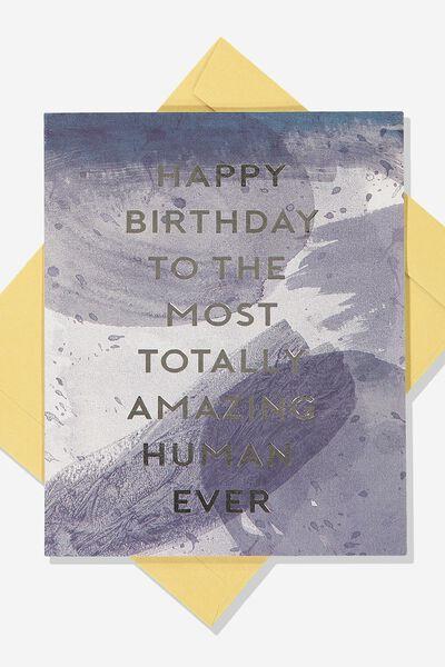 Afl Birthday Card - Amazing Human, GEELONG